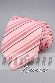 Kravata klasik-růžová 11090