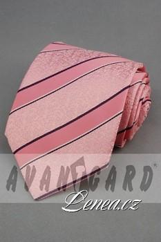 Kravata klasik-růžová 102180