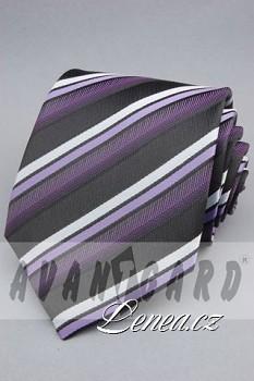 Kravata klasik-fialová 11120