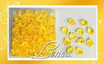 Ledové krystaly žluté střední tón