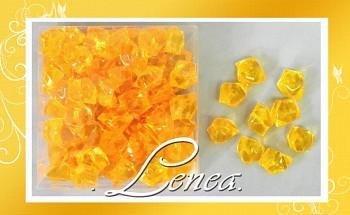 Ledové krystaly-žluté tmavé