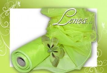 ORGANZA TVAROVACÍ-jasně zelená s leskem