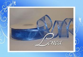 STUHA MONOFILOVÁ-atlasový lem-2,5cm/25m-středně modrá