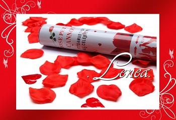 Konfety vystřelovací-plátky růží červené