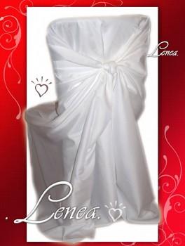 Svatební potah na židli-Romantik BÍLÝ-zapůjčení bez mašle