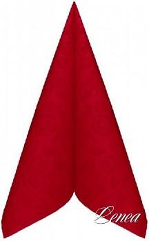 Ubrousky PREMIUM s dekorem růže 40x40 cm červené/bal.50 ks
