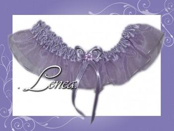 Svatební podvazek-Lila 5 - vel. s,m,l