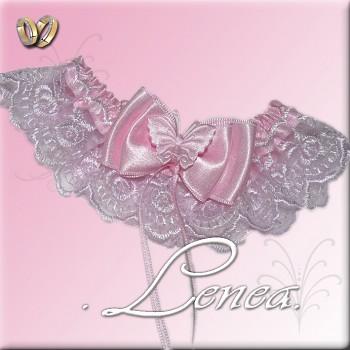 Svatební podvazek-pink 7 - vel. s,m,l