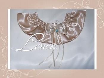 Svatební podvazek-champain 4 - vel. s,m,l