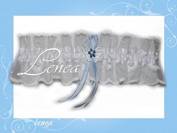 Svatební podvazek-White 4 - vel. s,m,l