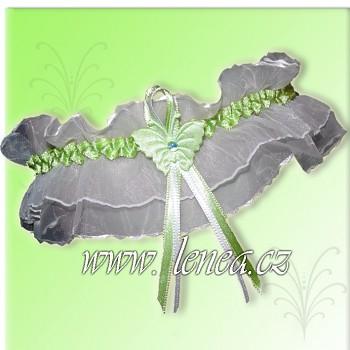 Svatební podvazek- Green 5 - vel. s,m,l