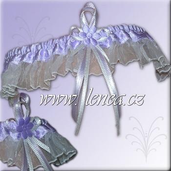 Svatební podvazek-Lila 4 - vel. s,m,l