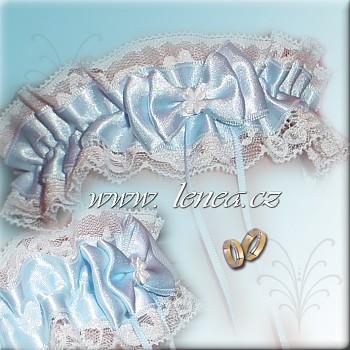 Svatební podvazek -Blue 8 - vel. s,m,l