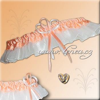 Svatební podvazek-Orange 2 - vel. s,m,l
