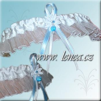 Svatební podvazek -White 3 - vel. s,m,l