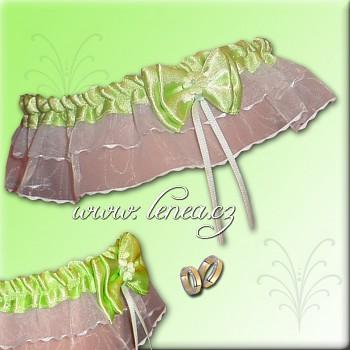 Svatební podvazek-Green 3 - vel. s,m,l