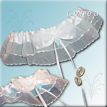 Svatební podvazek-White 1 - vel. s,m,l