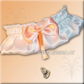 Svatební podvazek-Orange 1 - vel. s,m,l