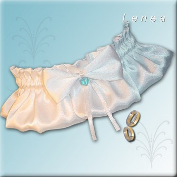 Svatební podvazek-White 2 - vel. s,m,l