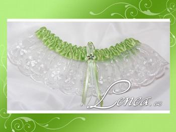 Svatební podvazek-Green 1 - vel. s,m,l