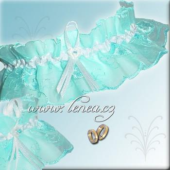 Svatební podvazek-Blue 1 - vel. s,m,l