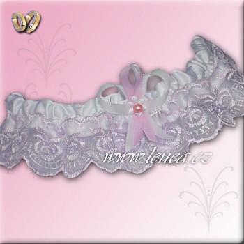 Svatební podvazek-Pink 2 - vel. s,m,l