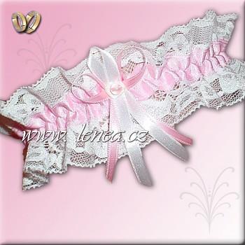Svatební podvazek-Pink 1 - vel. s,m,l