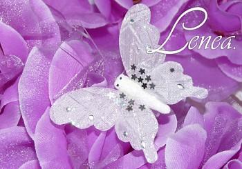 Motýl s třpytkami bílý