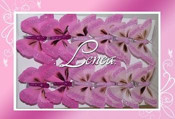 Motýl - sada růžová-12ks