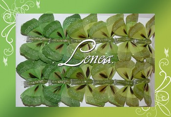 Motýl - sada zelená-12ks