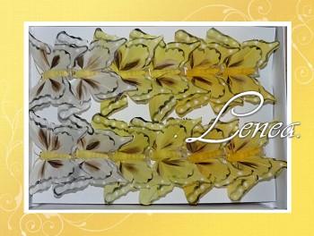 Motýl - sada žlutá -12ks