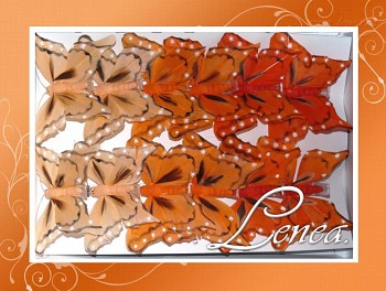 Motýl - sada oranžová -12ks