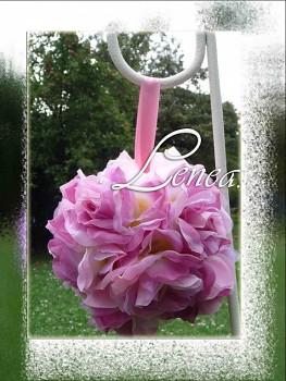 Dekorační květinová koule-starorůžová- k zapůjčení