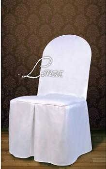 Potahy na židle č.4 saténové,kulaté opěradlo-sada 50ks