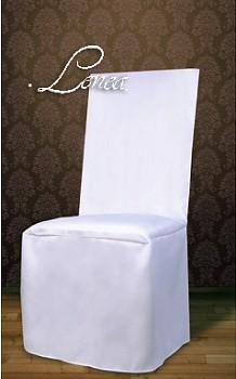 Potahy na židle č.2R  matné,rovné opěradlo-sada 50ks