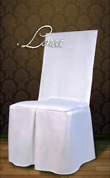 Potahy na židle č.6RS saténové,rovné opěradlo-sada 50ks