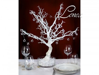 Strom dekorační- bílý-k zapůjčení