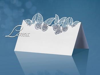 Jmenovka s motýlky-bal.10ks