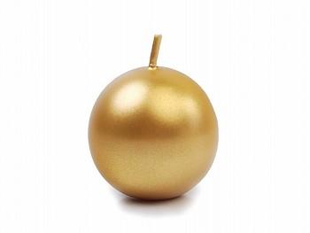 Kulatá svíčka-zlatá metalíza