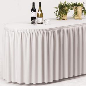Rautová sukně bílá řasená d.4m -zapůjčení