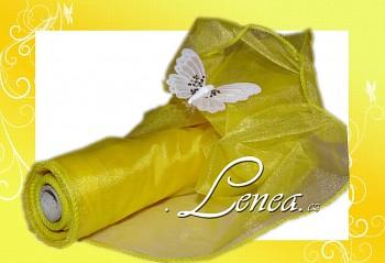 ORGANZA citronově žlutá TVAROVACÍ s leskem