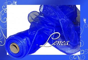 ORGANZA tmavě modrá s drátkem