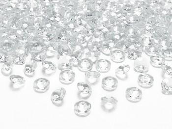 Dekorační mini diamanty čiré-bal.100ks