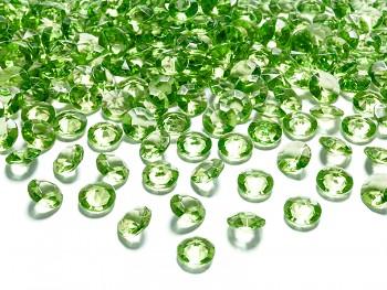 Dekorační mini diamanty jasně zelené -bal.100ks