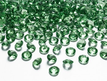 Dekorační mini diamanty tmavě zelené -bal.100ks