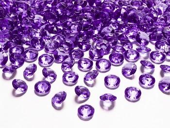 Dekorační mini diamanty tmavě fialové-bal.100ks