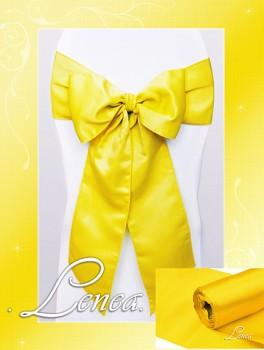 Saténová mašle na židli žlutá-zapůjčení