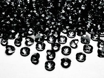 Dekorační mini diamanty černé