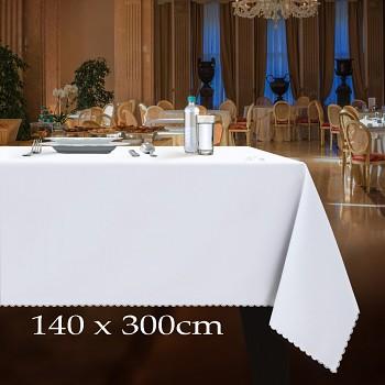Bílý ubrus k zapůjčení 140x300cm