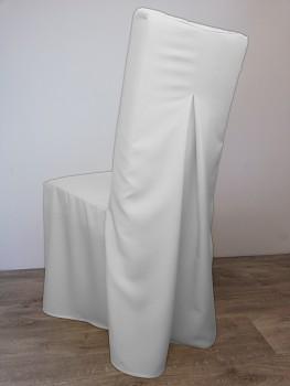 POTAH na židli Elegant-bílý s rovným opěradlem